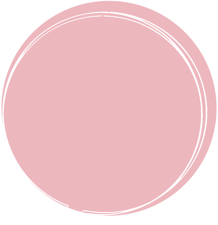 Pink chat bubble graphic